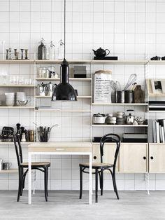 April and May: String shelves