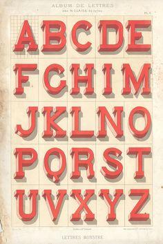 Alphabets_1 #alphabet #vintage #dimension #typography