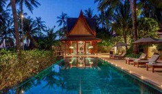5 bedrooms Ocean-front luxury villa on Surin Beach, Phuket with ancient Ayutthayan architecture, private pool, garden, personal chef, maid services & more. Book Now!