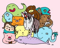 drawing #illustration #group #animals