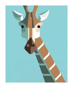Giraffe by Josh Brill #icon #iconic #picto #animal #giraffe #geometric