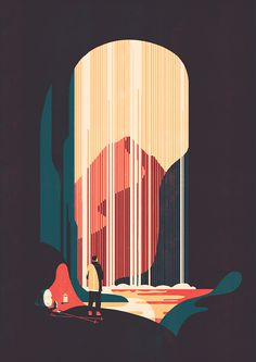 Errratum on Behance #illustration #mountain #camping #cave