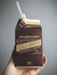 Gold Brew Coffee & Milk #packaging #design #graphic #coffee #dark