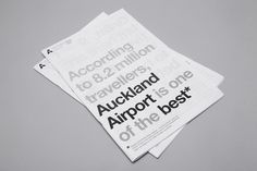 Auckland International Airport mike collinge design / identity / art direction #helvetica
