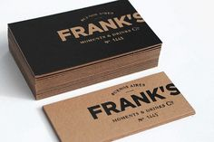 Frank's #branding #design #graphic #identity #stationery