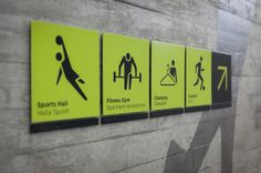 DCC Leisure Centre Signagedetail design #signage #pictograms