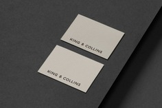 King Collins - Mindsparkle Mag Pop & Pac Studio designed the branding for King & Collins – the premier destination for those seeking a new kind of practice, with the history and experience of a well-established law firm. #logo #packaging #identity #branding #design #color #photography #graphic #design #gallery #blog #project #mindsparkle #mag #beautiful #portfolio #designer