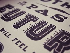 Dribbble - Letterpressed by Matt Chase #type