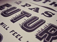 Dribbble - Letterpressed by Matt Chase #type