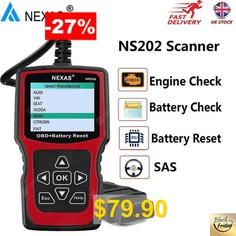 NEXAS #NS202 #OBD #EOBD #Engine #Check #Battery #Health #Check #Battery #Registration #Scan #Tool