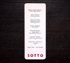 Sotto #menu #sotto