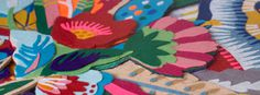 """tropicaliente"" detail - felt art by Lhama. www.lhama.net #felt #art #lhama #handmade"