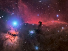 The Horsehead and Flame nebula by Connor Matherne, USA