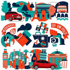 VW Europe illustrations #vw #illustration #design #car