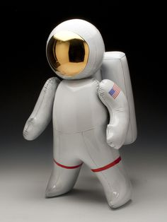 Ceramic Astronaut Sculpture by http://brettkernart.com/ #sculpture #astronaut #space #balloon #ceramic