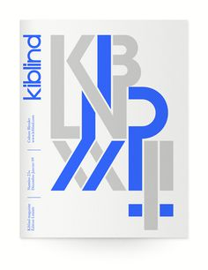 Kiblind #print #magazine #typography