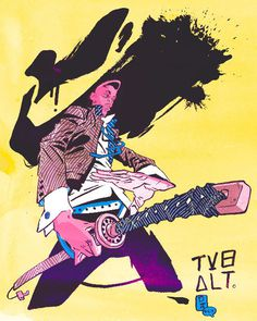 tumblr_mx95mf2GB81sbcy9ho1_500.jpg (500×626) #yellow #person #sword #paint #illustration #samurai