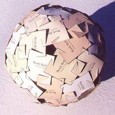 Millenium Bookball #modular #sculpture #paper