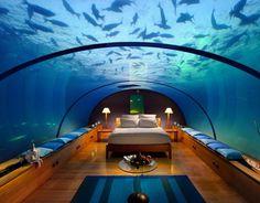 Conrad Rangali Island Resort #resort #architecture #underwater