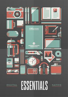 Goods — Offscreen Magazine Print by Justin Menzell #justin #mezzel #print #digital #illustration #stools #art #native