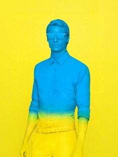 Dr. Midnight Presents... #fashion #blue #yellow #man