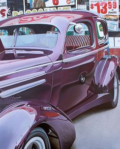 Realistic Old Polished Cars Paintings -8 #painting #car #art #realistic