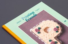 Printing Friends, the inspiring magazine for creatives, took a culinary trip around the world and ate mash potato typography, a coconut flav #cake #colourful #tactile #design #graphic #food #cover #snask #f #colorful #handmade #p #spread #editorial #magazine #typography