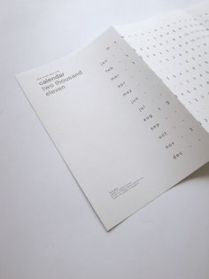 Calendar 2011 #calendar #design #graphic #typography