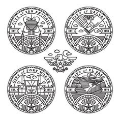Kendrick Kidd #illustrated #round #crest #badges #circle