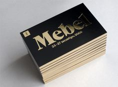 Foil Business Cards for Mebel #foil #catalog #folch studio