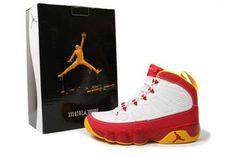 Nike Air Jordan 9 Crawfish Red and White Yellow #shoes