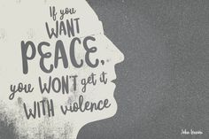 If you want peace you won't get it with violence - John Lennon quote made with Mister Rooster #typeface #handmade #font #lettering