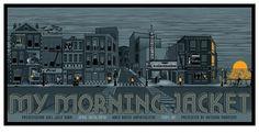GigPosters.com - My Morning Jacket - Preservation Hall Jazz Band #jacket #city #gig #my #illustration #poster #morning #band