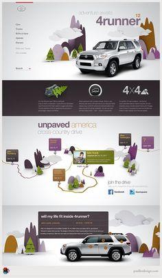 Toyota #toyota #design #web #3d