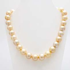 Necklace of South sea pearls in history