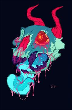pink skull goop by SIIINS on deviantART #skull #goop