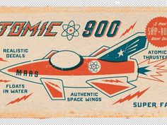 Dribbble - Atomic 1 by Dustin Wallace #reproduction #illustration #vintage #typography