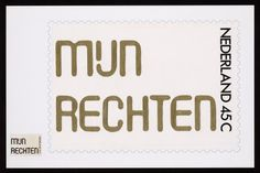 150 years of the Dutch Postal Service #dutch #netherlands #typography