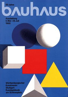 Bauhaus 50 years (1968) Flickrgraphics #bauhaus #flickrgraphics #poster