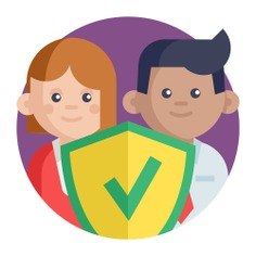 See more icon inspiration related to safe, check, shield, team, wellness, teamwork, group, protected, quality, safety, protection, networking, security and business on Flaticon.