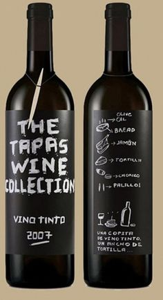 Eduardo del Fraile #murcia #white #spain #packaging #blackboard #black #wine #and #type #typography
