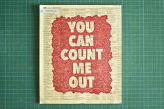 The Hungry Workshop | Count me out #yellow #print #protest #pages