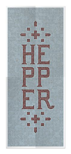 Hepper Display Typeface on Behance #hepper #design #letter #mosaic #art #type #typography