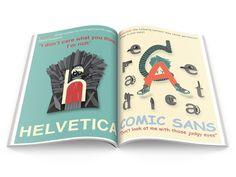 Typography Zine: Spread 1 #zine #design #publication #typefaces #introduction #to #typography