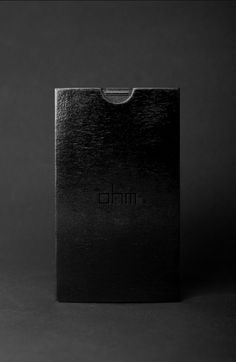 OHM invitation #acrylic #black #glass #wood #store #minimal #fashion #dark
