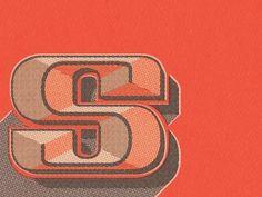 Typography / S, evan huwa #evan #huwa #typography
