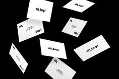 Oh Boy! Branding - Mindsparkle Mag Great simple black and white corporate design for Oh Boy! – a young film-production company based in Germany. #logo #identity #branding #design #color #photography #graphic #design #gallery #blog #project #mindsparkle #mag #beautiful #portfolio #designer