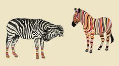 MUSSE Estampas #zebra #psycodelic