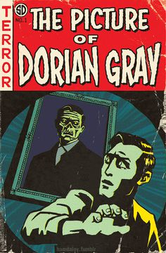 New print: Oscar Wildes Picture of Dorian Gray via Tales from the Crypt. #dorian #illustration #gray
