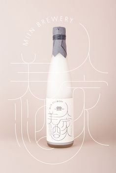 Miin - Korean traditional rice wine #design #packaging #label #south korea #wine #rice #typography